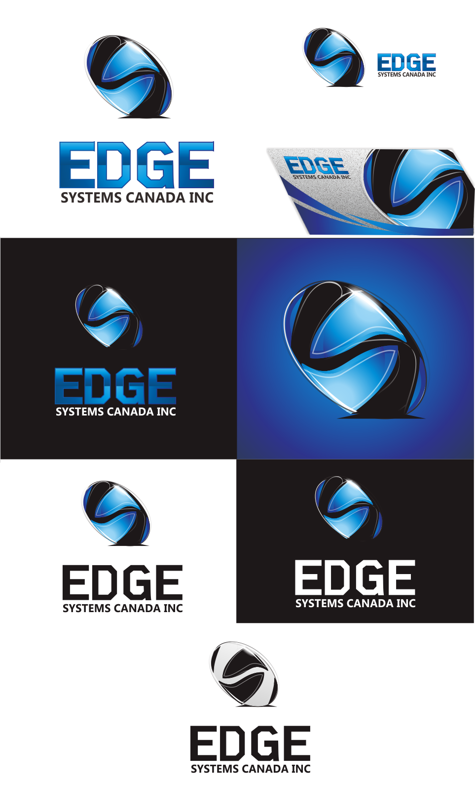 Logo Design by Mitchnick Sunardi - Entry No. 92 in the Logo Design Contest New Logo Design for Edge Systems Canada Inc.