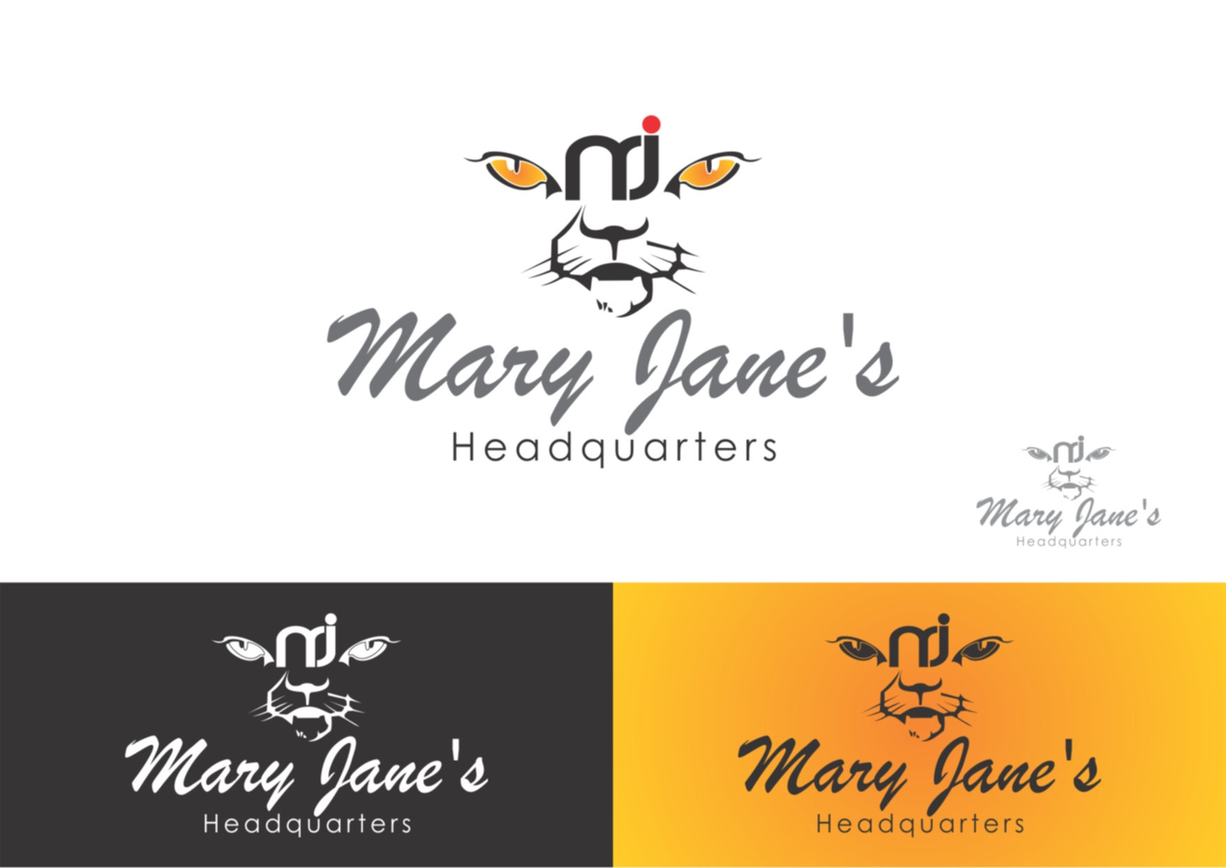 Logo Design by Private User - Entry No. 10 in the Logo Design Contest Mary Jane's Headquarters Logo Design.