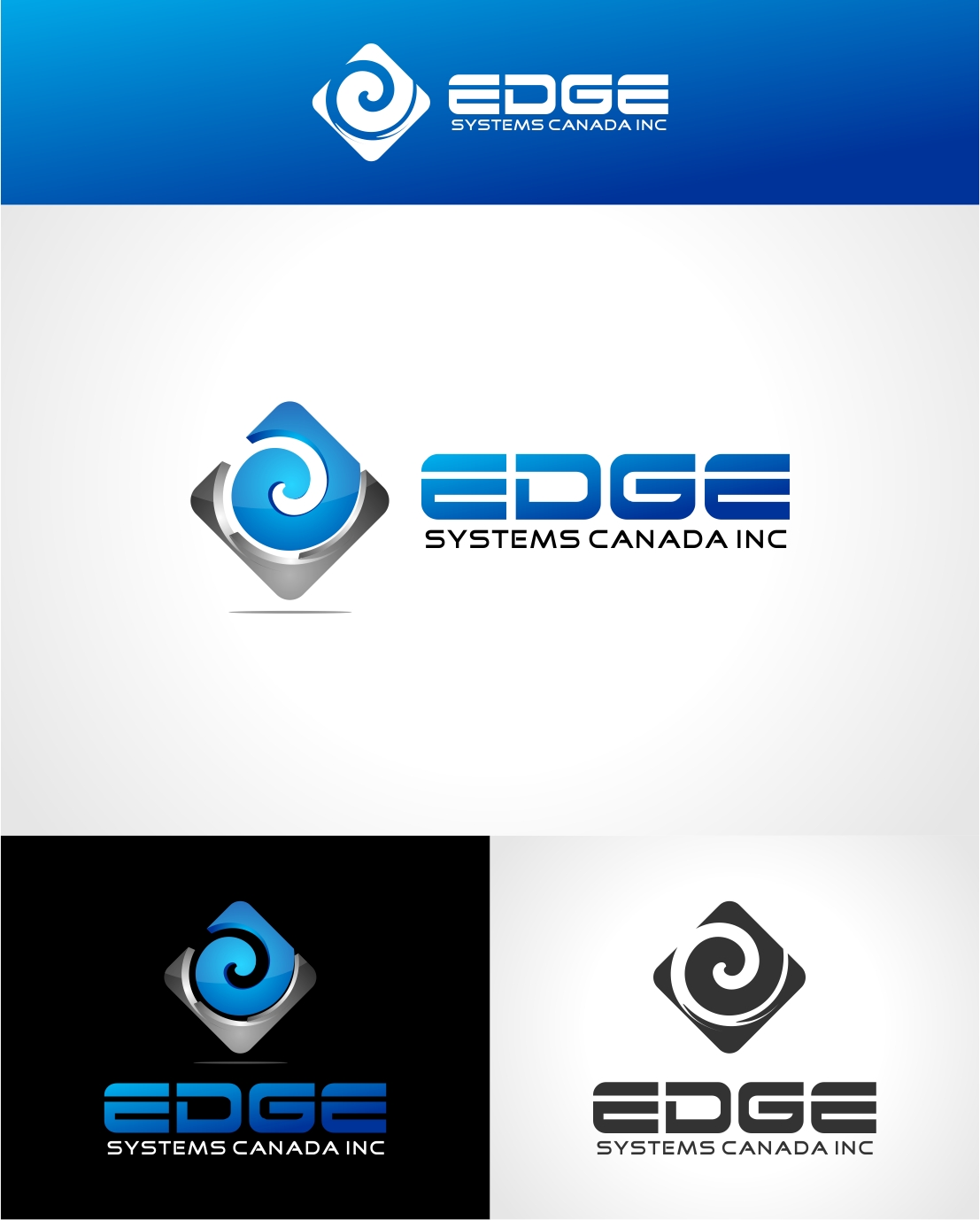 Logo Design by haidu - Entry No. 109 in the Logo Design Contest New Logo Design for Edge Systems Canada Inc.