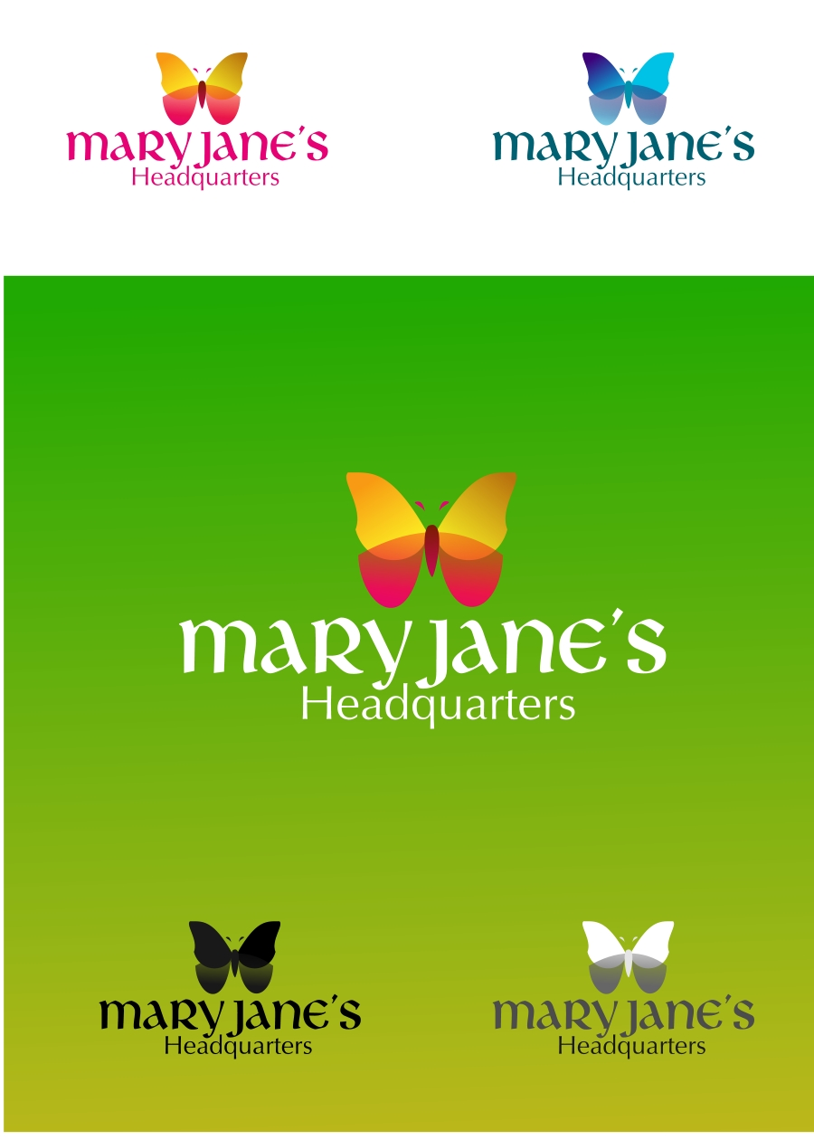 Logo Design by Private User - Entry No. 14 in the Logo Design Contest Mary Jane's Headquarters Logo Design.
