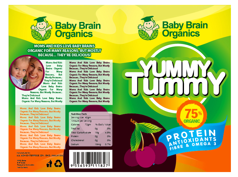 Packaging Design by Hoang Chuong - Entry No. 19 in the Packaging Design Contest Baby Brain Organics Packaging Design.
