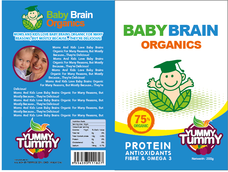 Packaging Design by Hoang Chuong - Entry No. 20 in the Packaging Design Contest Baby Brain Organics Packaging Design.