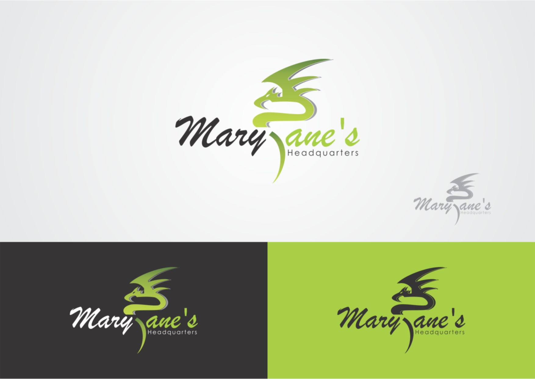 Logo Design by Private User - Entry No. 31 in the Logo Design Contest Mary Jane's Headquarters Logo Design.