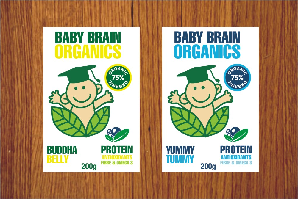 Packaging Design by Private User - Entry No. 25 in the Packaging Design Contest Baby Brain Organics Packaging Design.