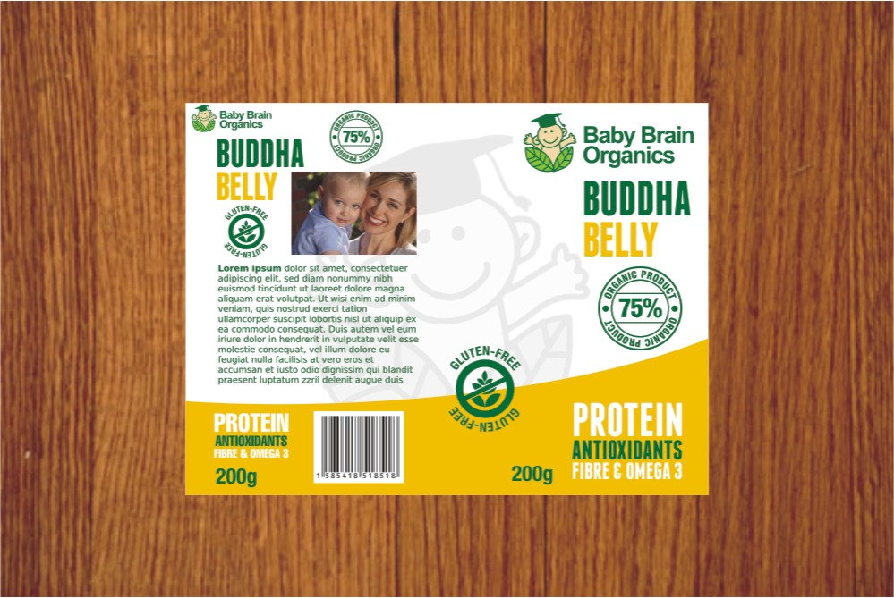 Packaging Design by Private User - Entry No. 35 in the Packaging Design Contest Baby Brain Organics Packaging Design.