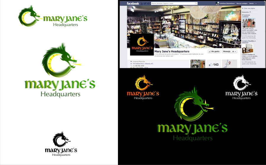 Logo Design by Private User - Entry No. 66 in the Logo Design Contest Mary Jane's Headquarters Logo Design.