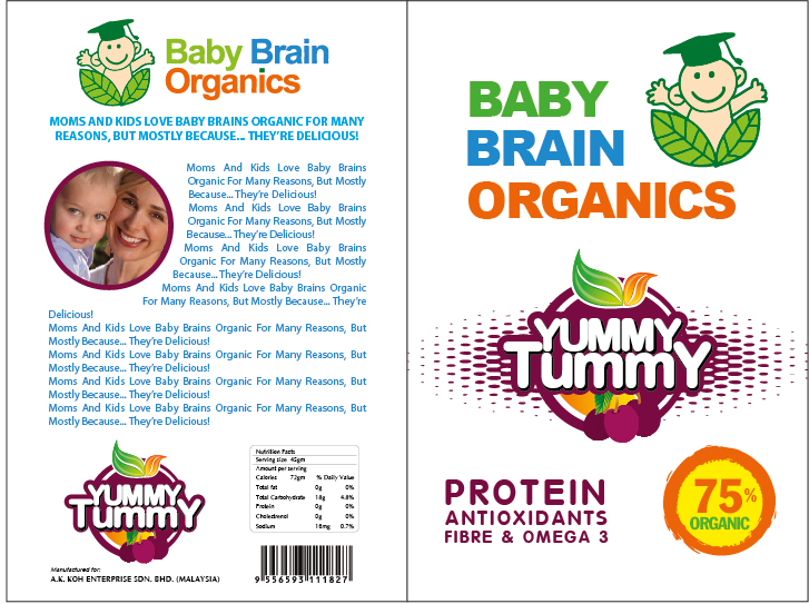 Packaging Design by Hoang Chuong - Entry No. 36 in the Packaging Design Contest Baby Brain Organics Packaging Design.