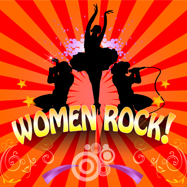 Logo Design by IM3D - Entry No. 16 in the Logo Design Contest Women ROCK! - Dress for Success Pittsburgh.