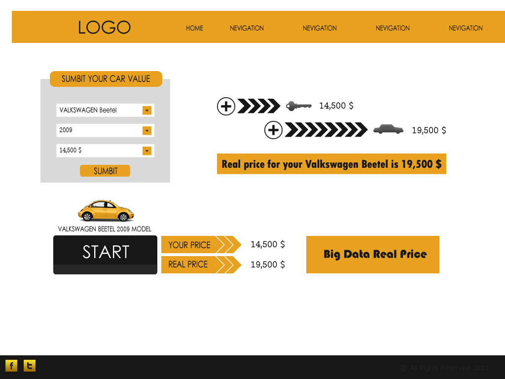 Web Page Design by Tathastu Sharma - Entry No. 54 in the Web Page Design Contest Car valuation Web Page Design.