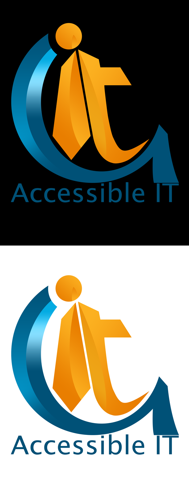 Logo Design by Private User - Entry No. 60 in the Logo Design Contest Logo Design Needed for Exciting New Company Accessible IT.