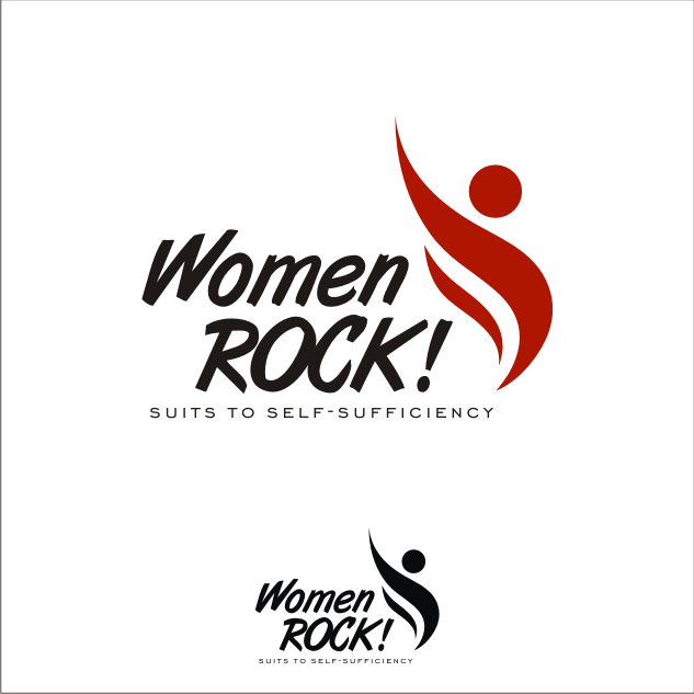 Logo Design by key - Entry No. 25 in the Logo Design Contest Women ROCK! - Dress for Success Pittsburgh.