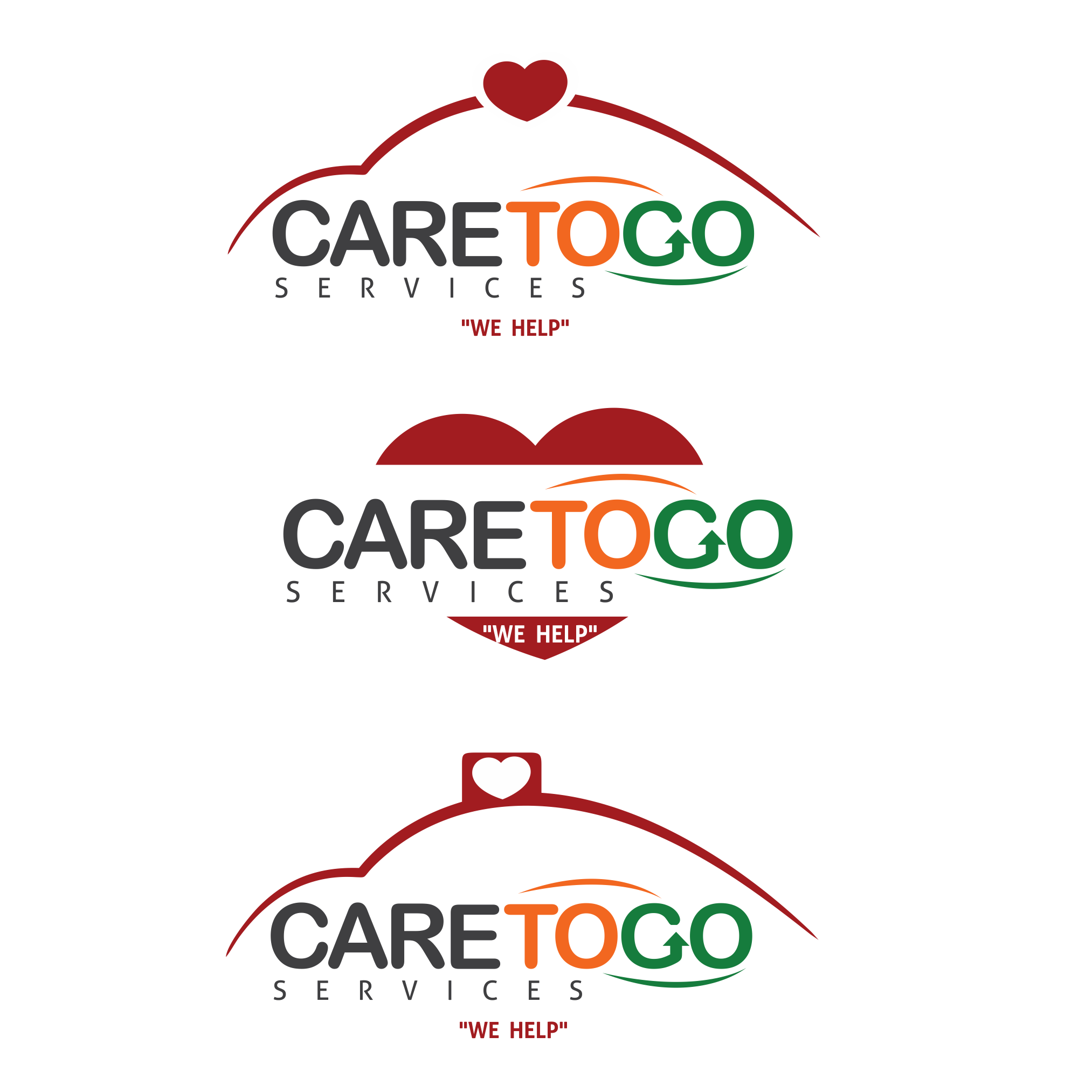 Logo Design by moisesf - Entry No. 190 in the Logo Design Contest Care To Go Services.