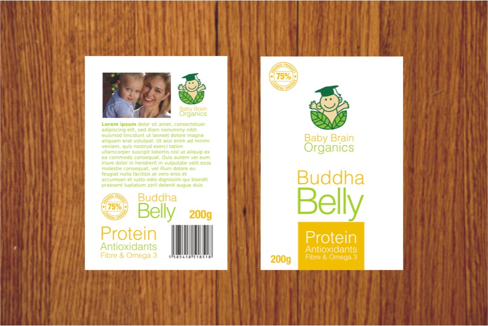 Packaging Design by Private User - Entry No. 47 in the Packaging Design Contest Baby Brain Organics Packaging Design.