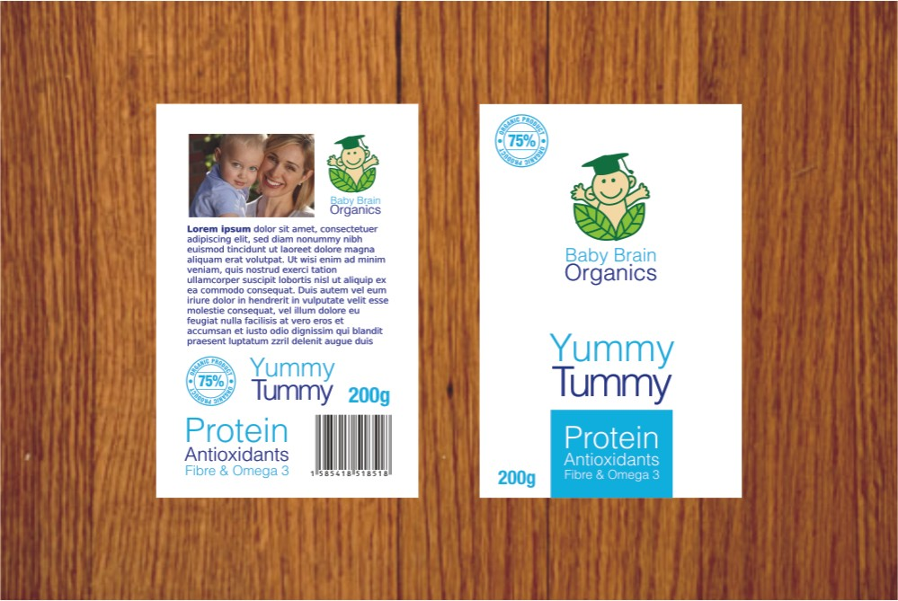 Packaging Design by Private User - Entry No. 48 in the Packaging Design Contest Baby Brain Organics Packaging Design.