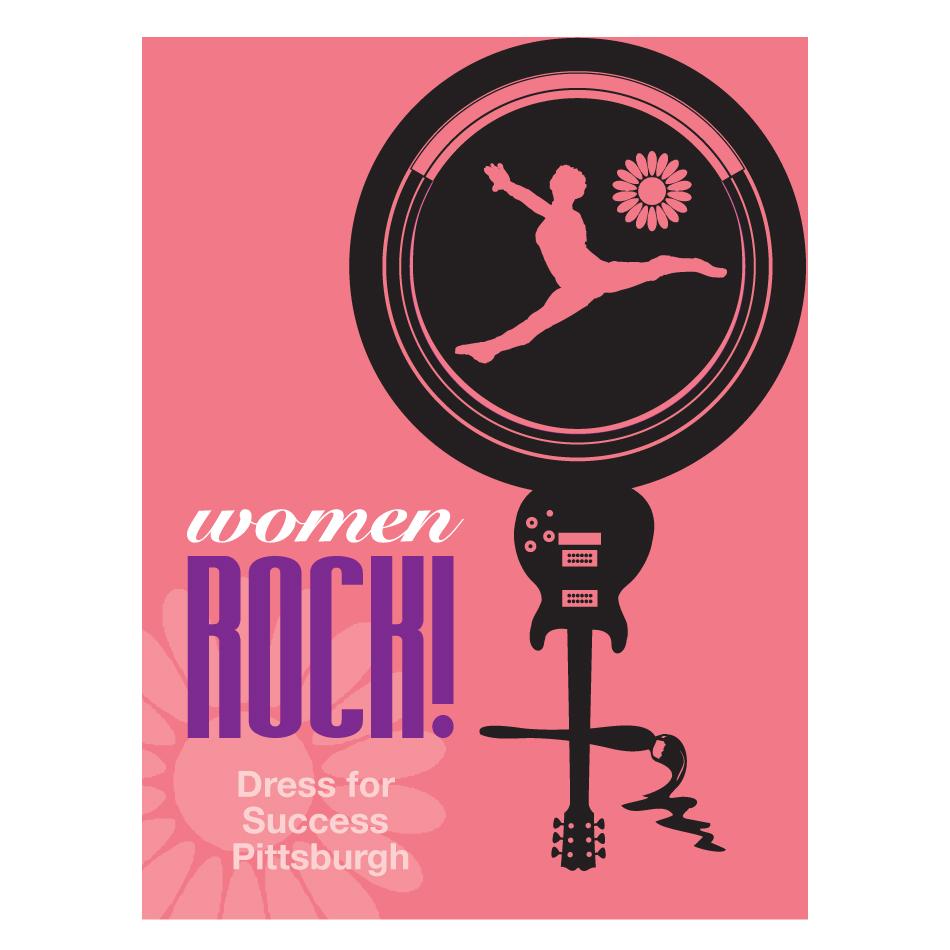 Logo Design by designbuddha - Entry No. 36 in the Logo Design Contest Women ROCK! - Dress for Success Pittsburgh.