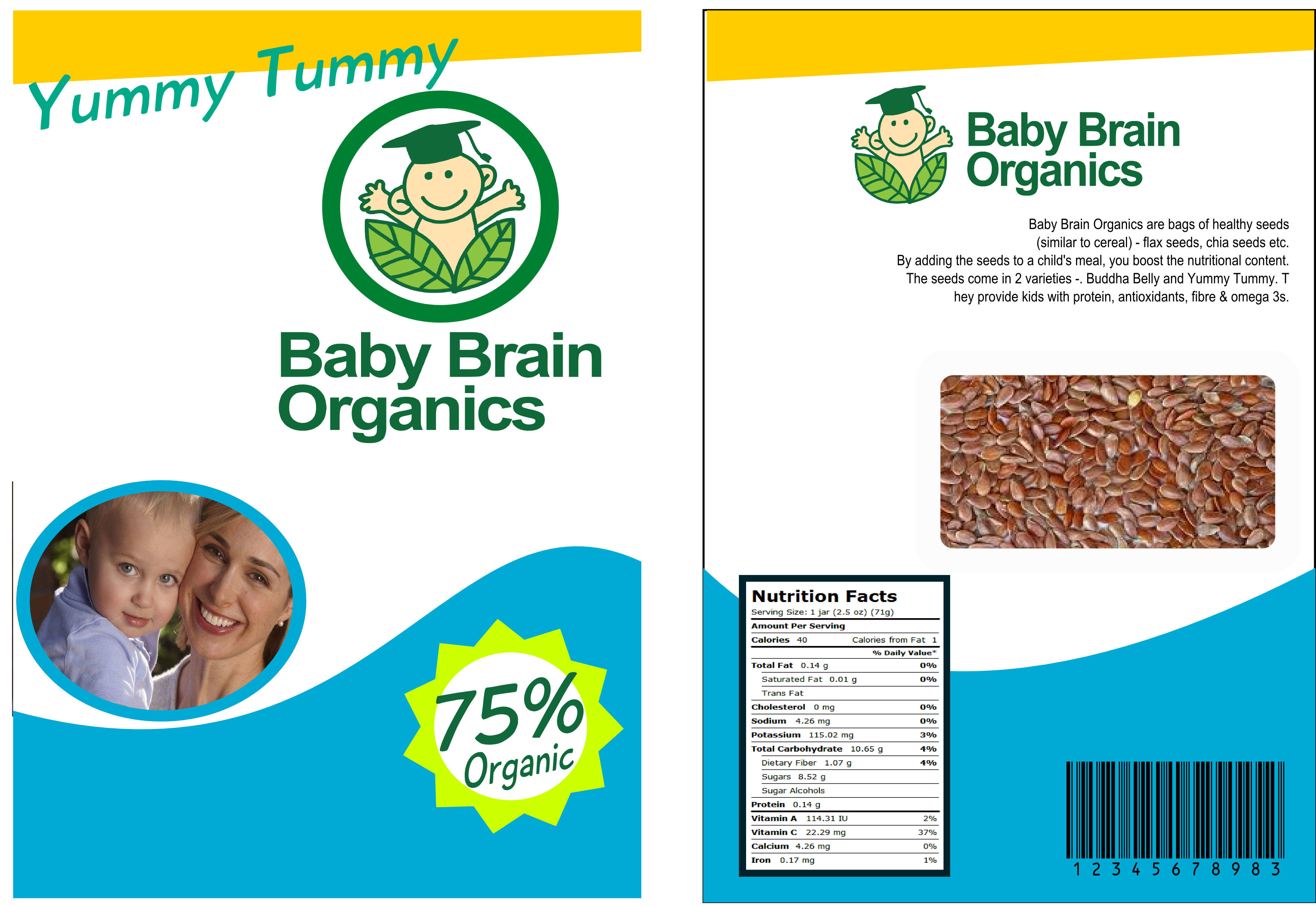 Packaging Design by whoosef - Entry No. 53 in the Packaging Design Contest Baby Brain Organics Packaging Design.