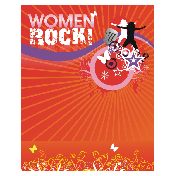 Logo Design by aspstudio - Entry No. 58 in the Logo Design Contest Women ROCK! - Dress for Success Pittsburgh.