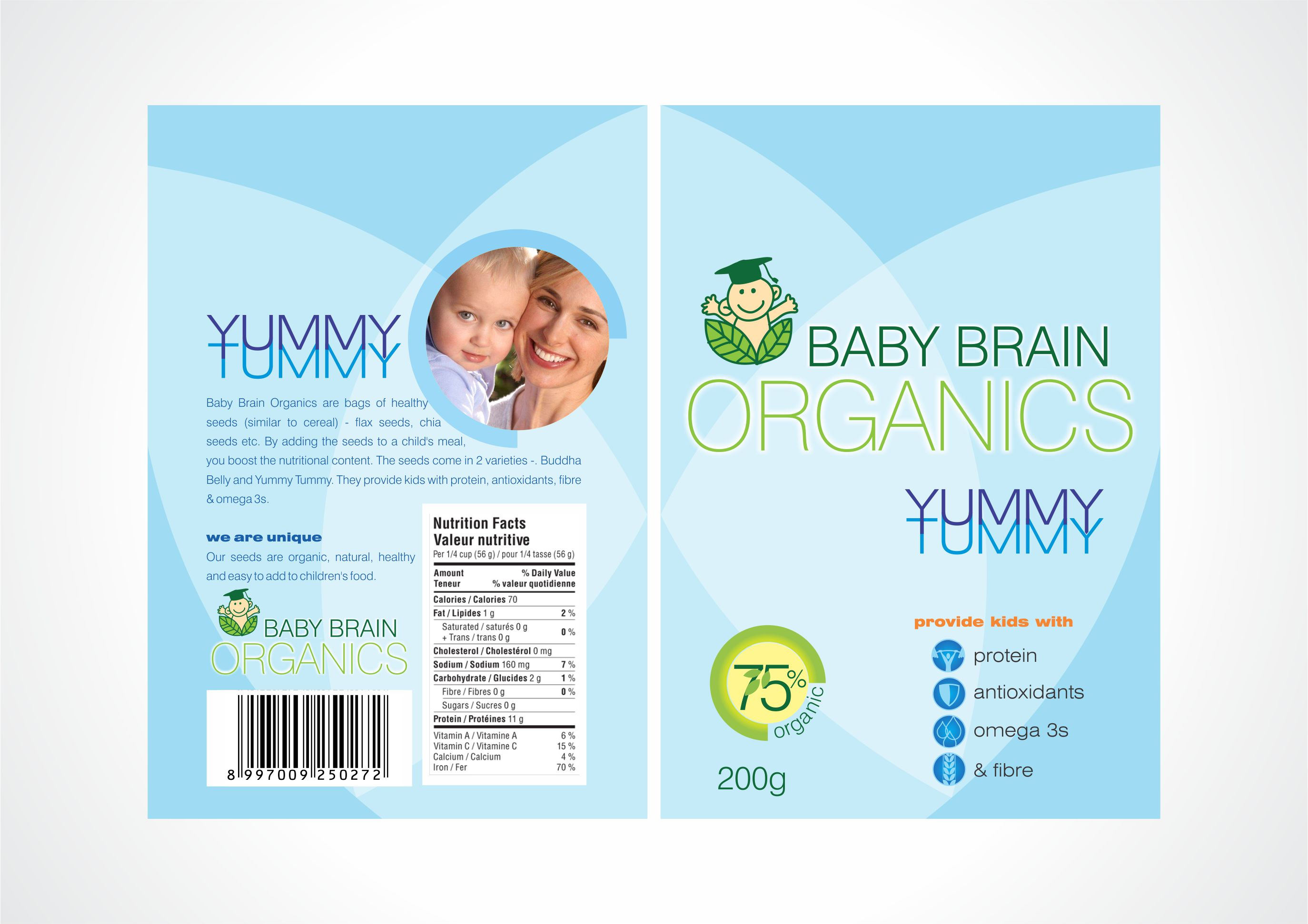Packaging Design by Sonny Cornado - Entry No. 61 in the Packaging Design Contest Baby Brain Organics Packaging Design.