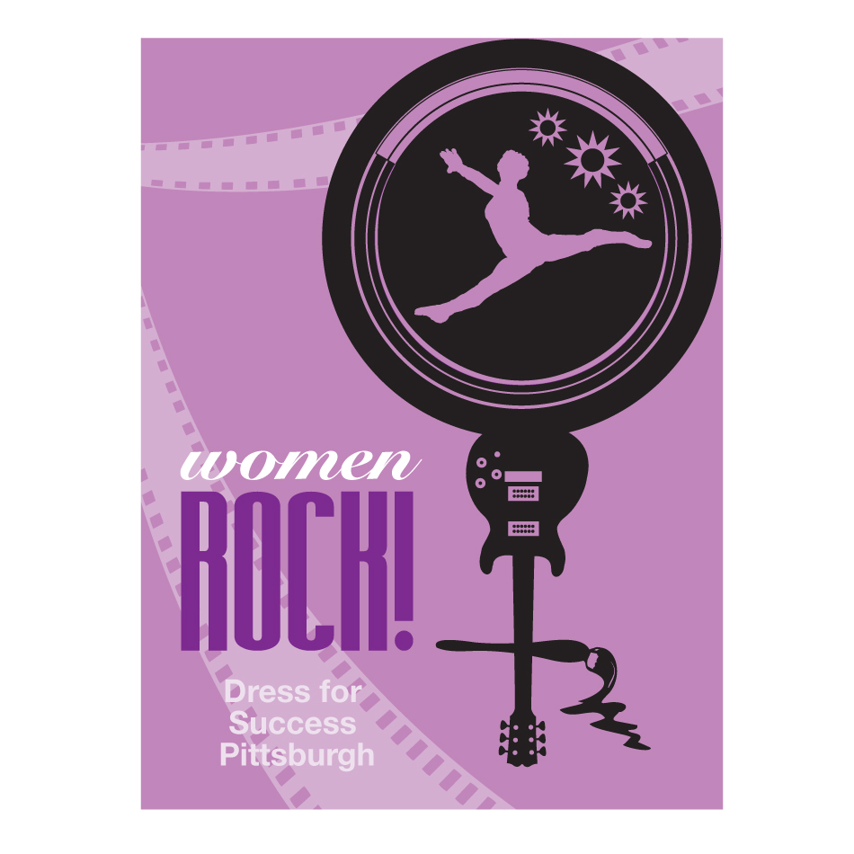 Logo Design by designbuddha - Entry No. 59 in the Logo Design Contest Women ROCK! - Dress for Success Pittsburgh.