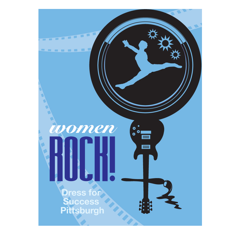 Logo Design by designbuddha - Entry No. 60 in the Logo Design Contest Women ROCK! - Dress for Success Pittsburgh.