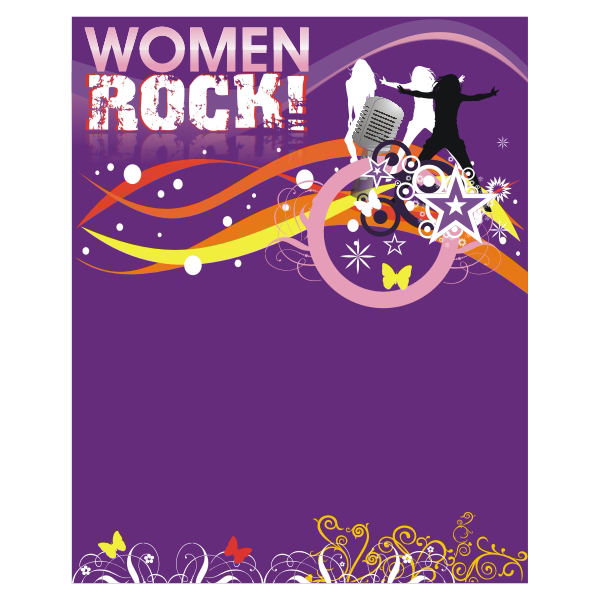 Logo Design by aspstudio - Entry No. 61 in the Logo Design Contest Women ROCK! - Dress for Success Pittsburgh.