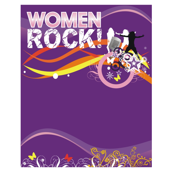 Logo Design by aspstudio - Entry No. 62 in the Logo Design Contest Women ROCK! - Dress for Success Pittsburgh.