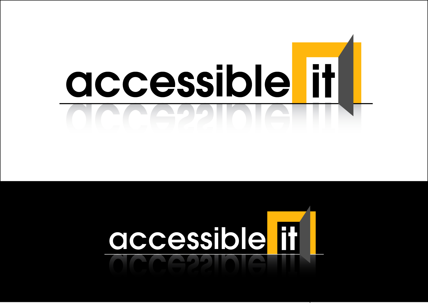 Logo Design by Wilfredo Mendoza - Entry No. 220 in the Logo Design Contest Logo Design Needed for Exciting New Company Accessible IT.