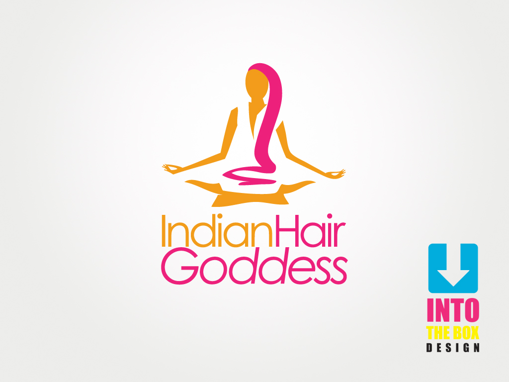 Logo Design by Into The Box Design - Entry No. 3 in the Logo Design Contest Indian Goddess Hair LOGO DESIGN.