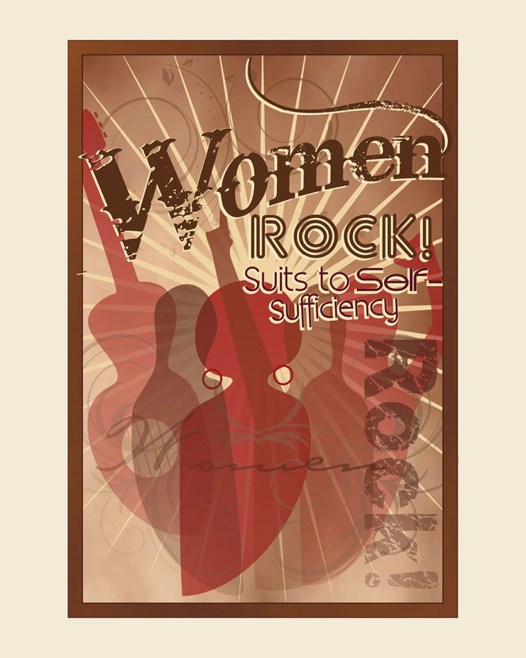Logo Design by Junbug - Entry No. 69 in the Logo Design Contest Women ROCK! - Dress for Success Pittsburgh.