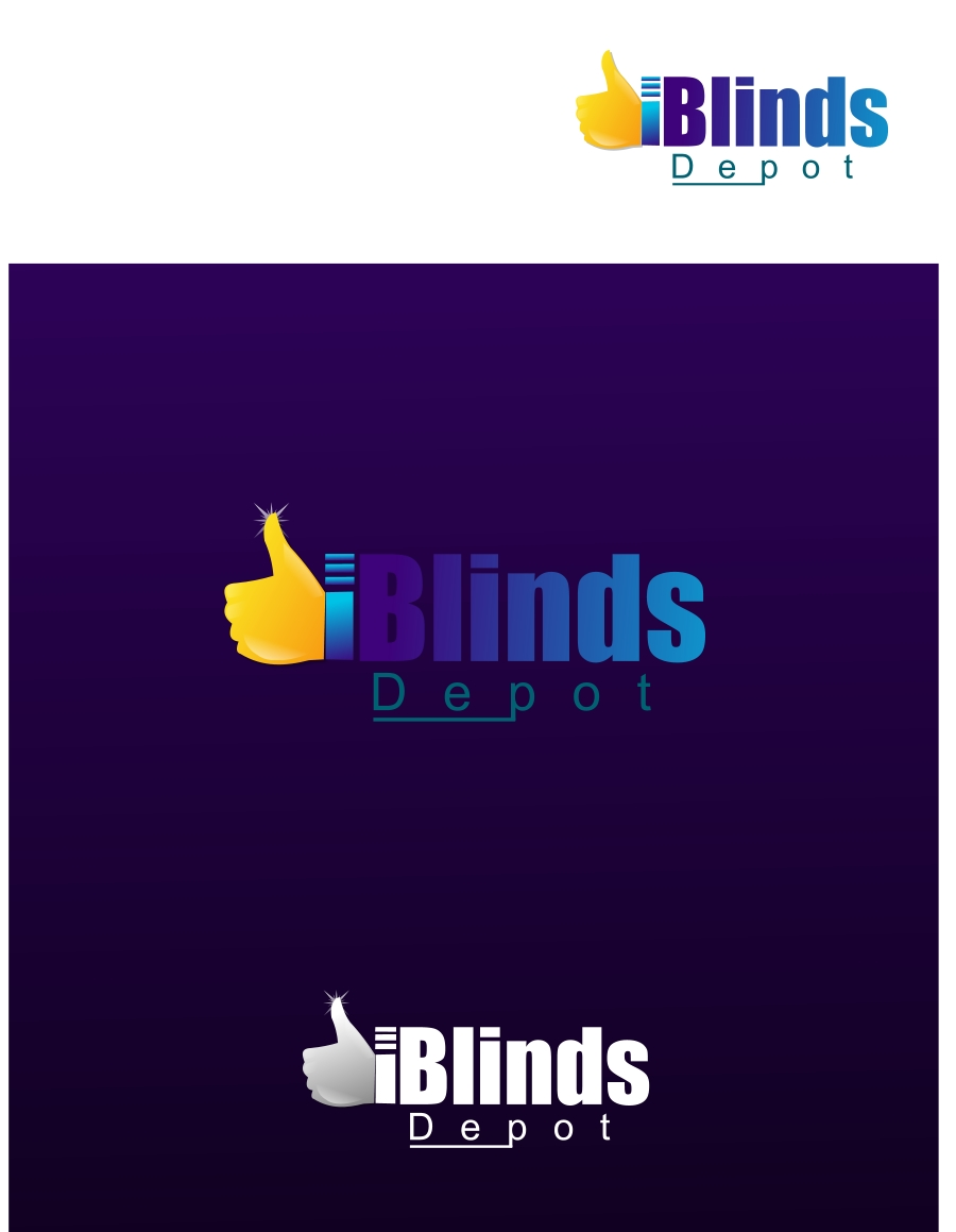 Logo Design by Private User - Entry No. 22 in the Logo Design Contest Logo Design Needed for Exciting New Company Blinds Depot.