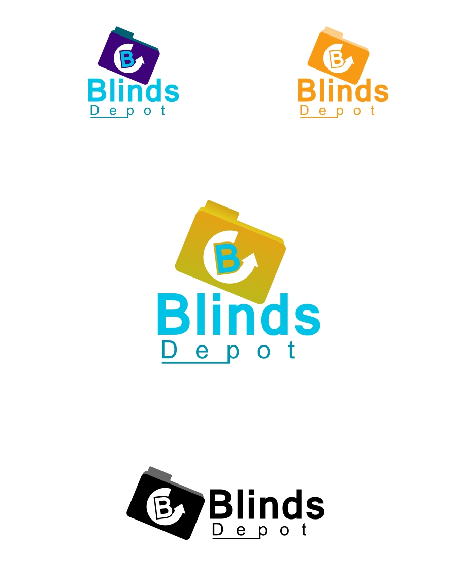 Logo Design by Private User - Entry No. 23 in the Logo Design Contest Logo Design Needed for Exciting New Company Blinds Depot.