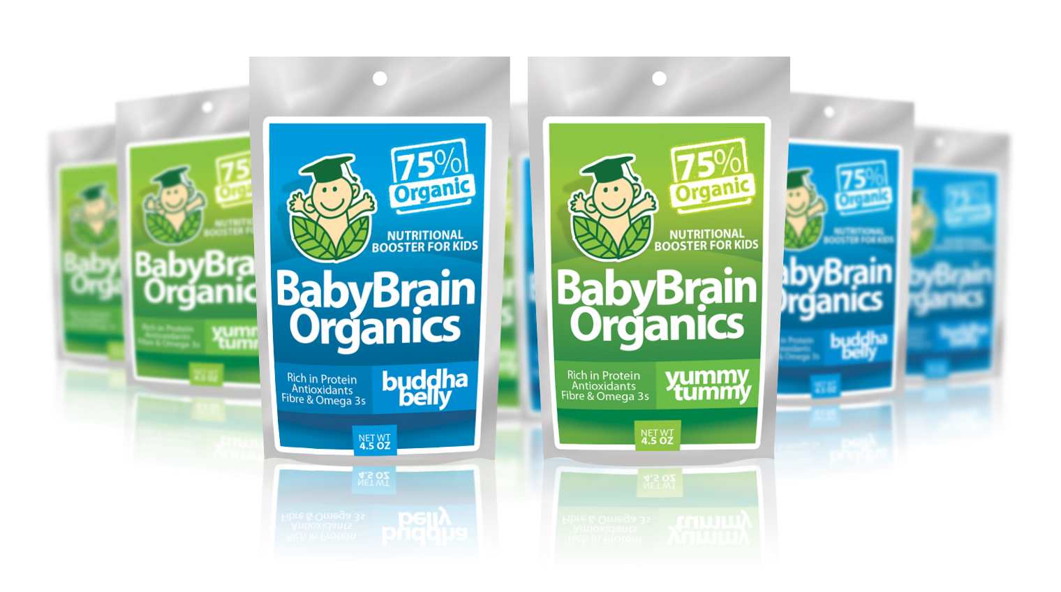Packaging Design by Sherwin Soy - Entry No. 67 in the Packaging Design Contest Baby Brain Organics Packaging Design.