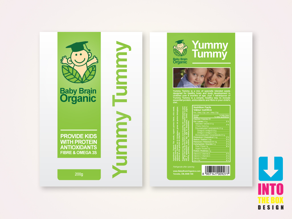 Packaging Design by Into The Box Design - Entry No. 68 in the Packaging Design Contest Baby Brain Organics Packaging Design.