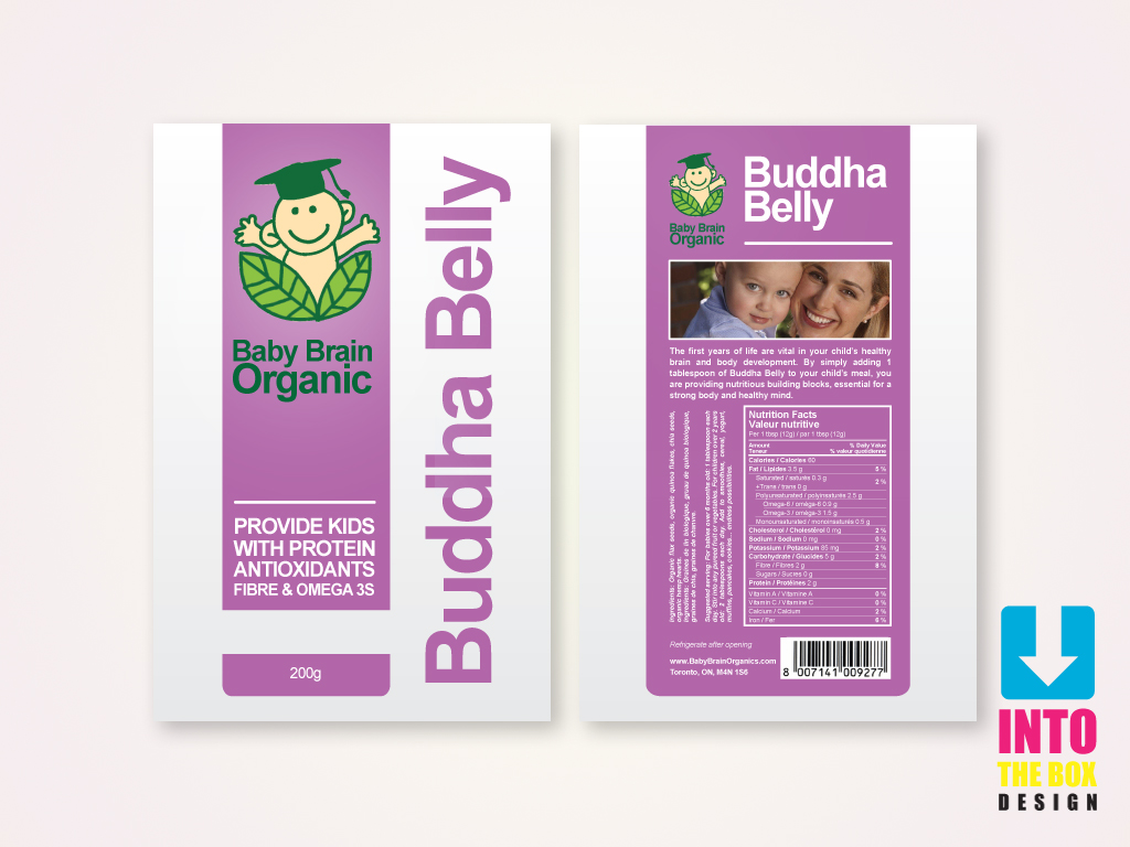 Packaging Design by Into The Box Design - Entry No. 69 in the Packaging Design Contest Baby Brain Organics Packaging Design.