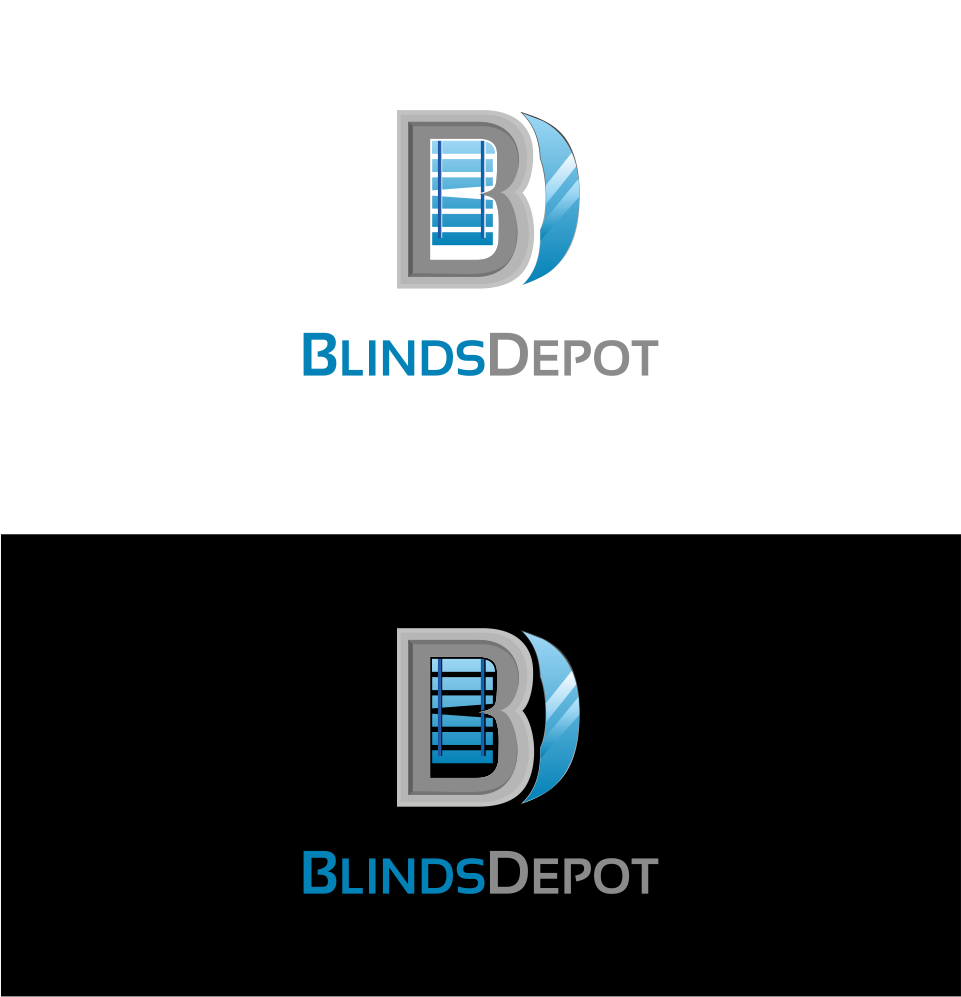 Logo Design by Mitchnick Sunardi - Entry No. 26 in the Logo Design Contest Logo Design Needed for Exciting New Company Blinds Depot.