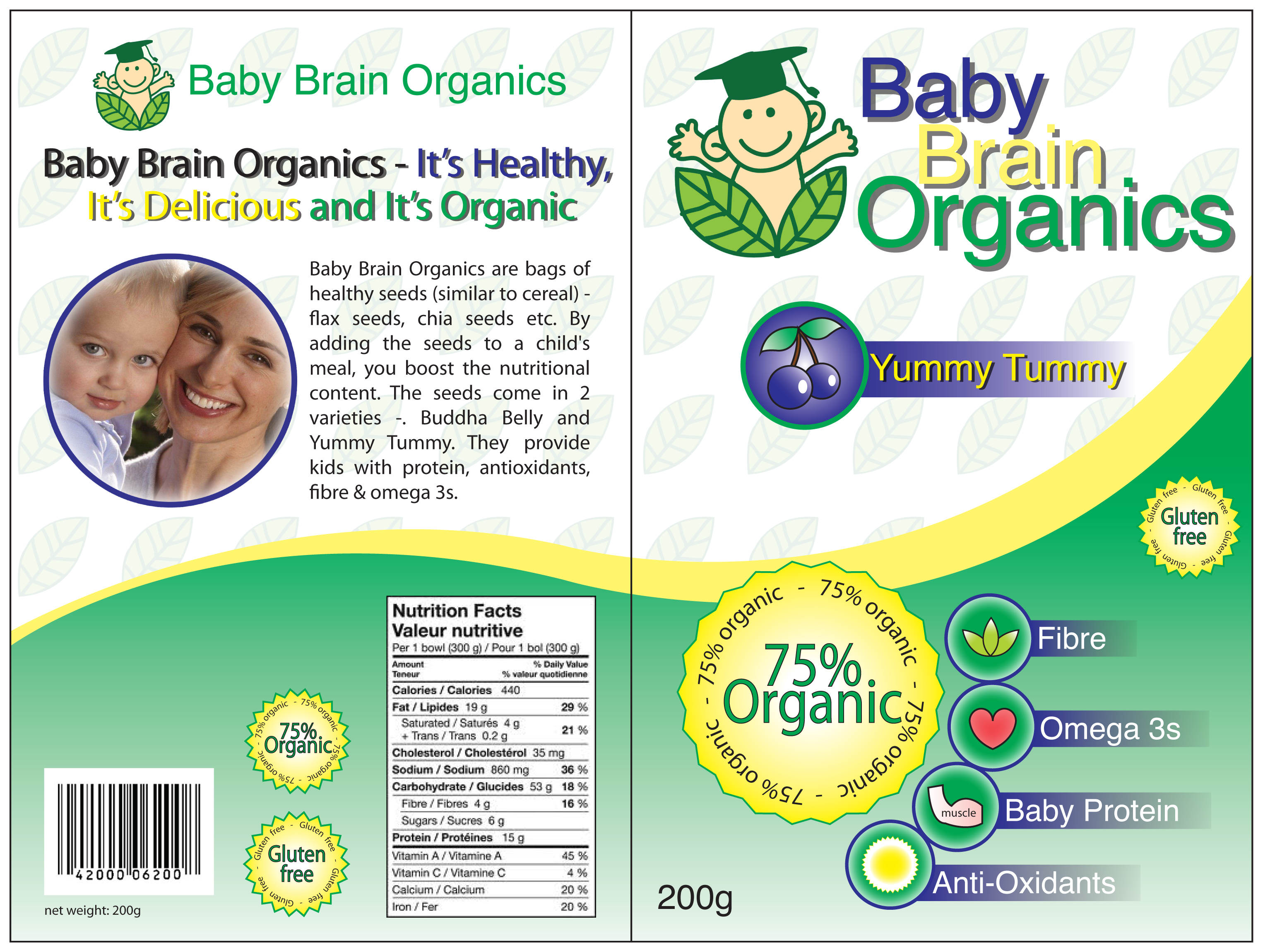 Packaging Design by Genesis Orland Colendres - Entry No. 70 in the Packaging Design Contest Baby Brain Organics Packaging Design.