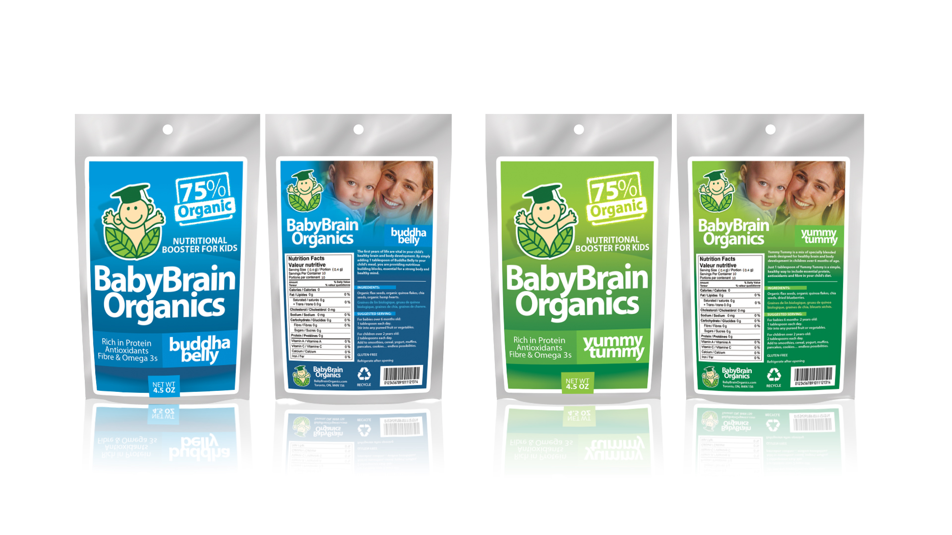 Packaging Design by Sherwin Soy - Entry No. 75 in the Packaging Design Contest Baby Brain Organics Packaging Design.