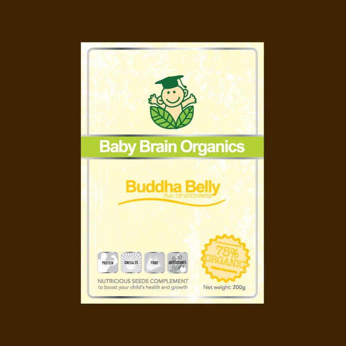 Packaging Design by geisha - Entry No. 80 in the Packaging Design Contest Baby Brain Organics Packaging Design.