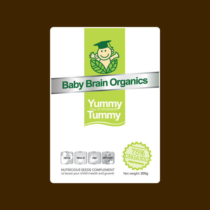 Packaging Design by geisha - Entry No. 81 in the Packaging Design Contest Baby Brain Organics Packaging Design.