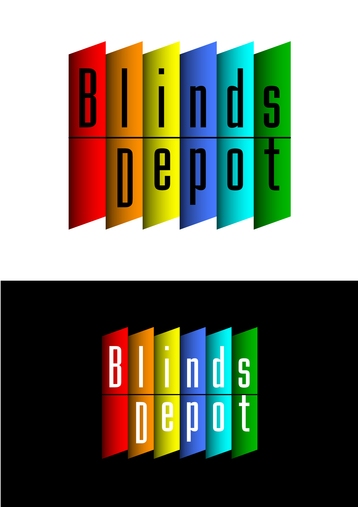 Logo Design by Wilfredo Mendoza - Entry No. 28 in the Logo Design Contest Logo Design Needed for Exciting New Company Blinds Depot.