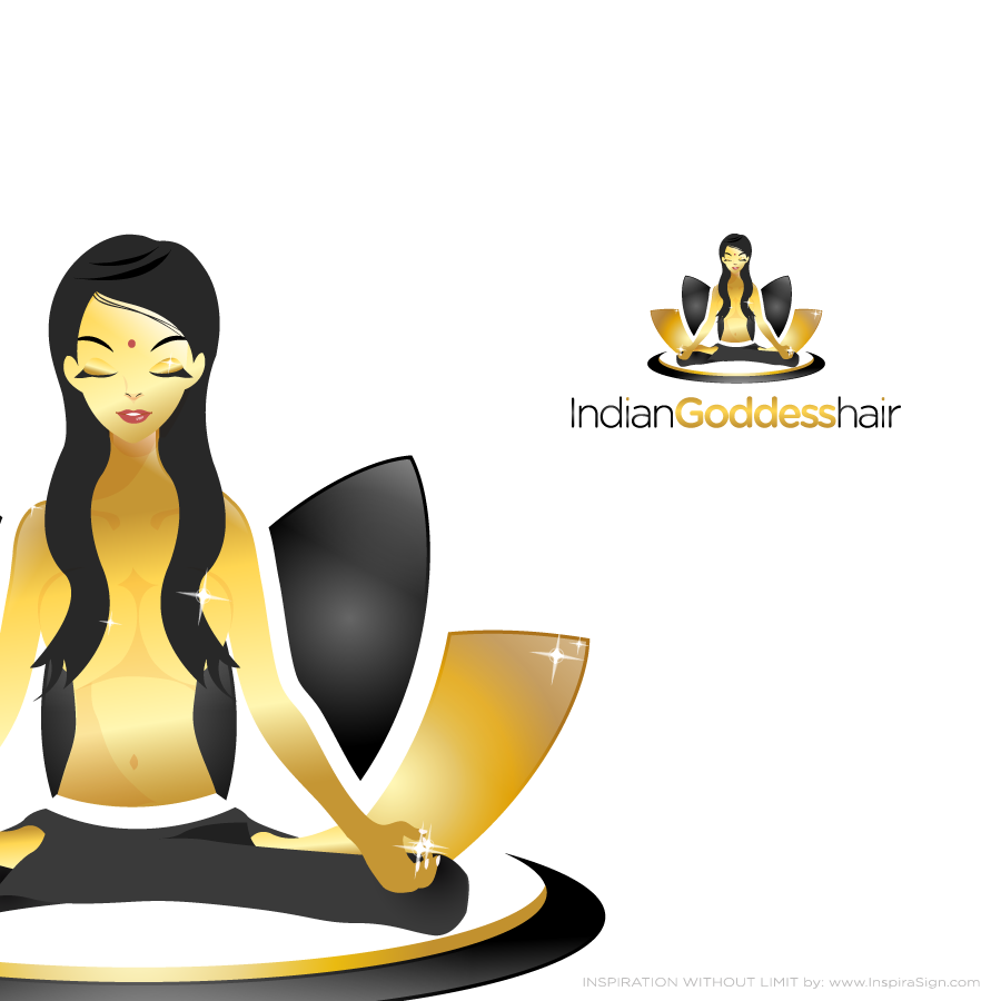 Logo Design by InspiraSign - Entry No. 9 in the Logo Design Contest Indian Goddess Hair LOGO DESIGN.