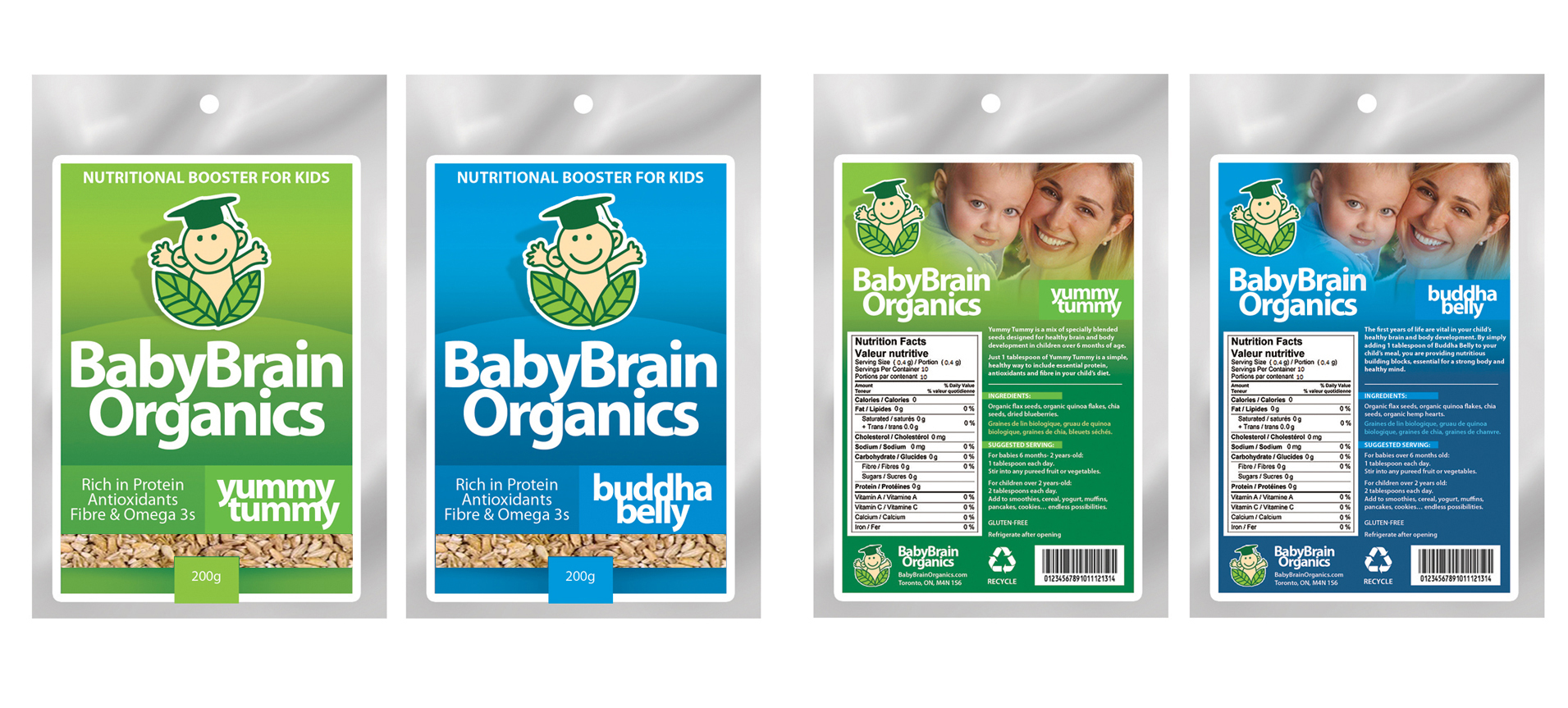 Packaging Design by Sherwin Soy - Entry No. 85 in the Packaging Design Contest Baby Brain Organics Packaging Design.