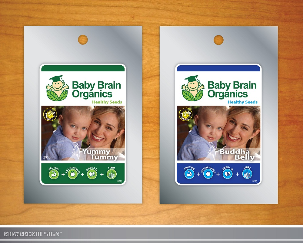 Packaging Design by kowreck - Entry No. 86 in the Packaging Design Contest Baby Brain Organics Packaging Design.