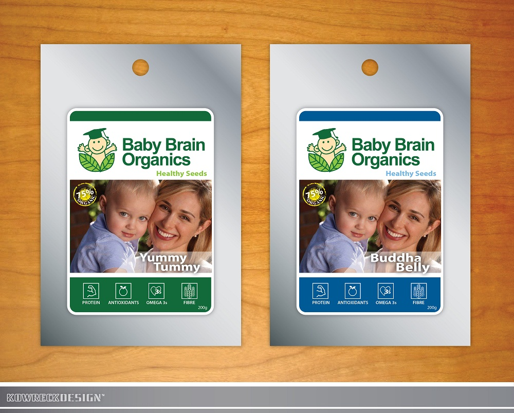 Packaging Design by kowreck - Entry No. 87 in the Packaging Design Contest Baby Brain Organics Packaging Design.