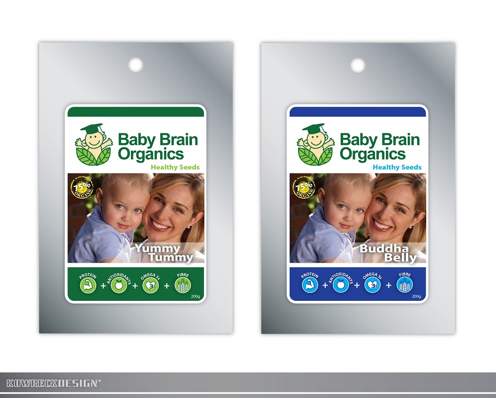 Packaging Design by kowreck - Entry No. 88 in the Packaging Design Contest Baby Brain Organics Packaging Design.