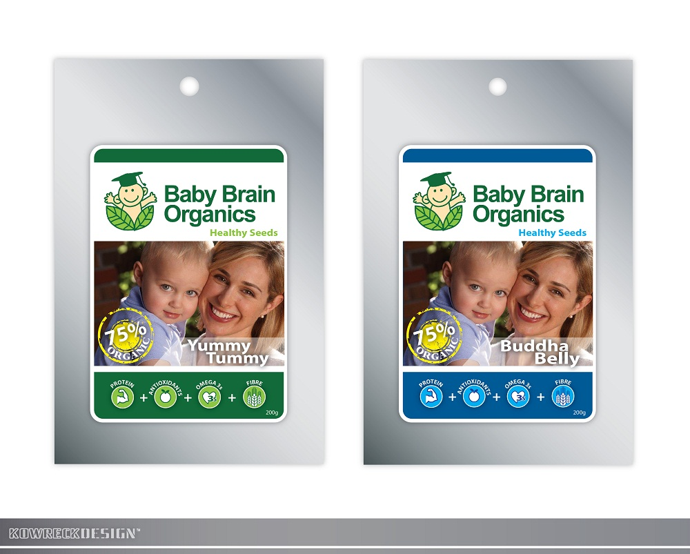 Packaging Design by kowreck - Entry No. 89 in the Packaging Design Contest Baby Brain Organics Packaging Design.
