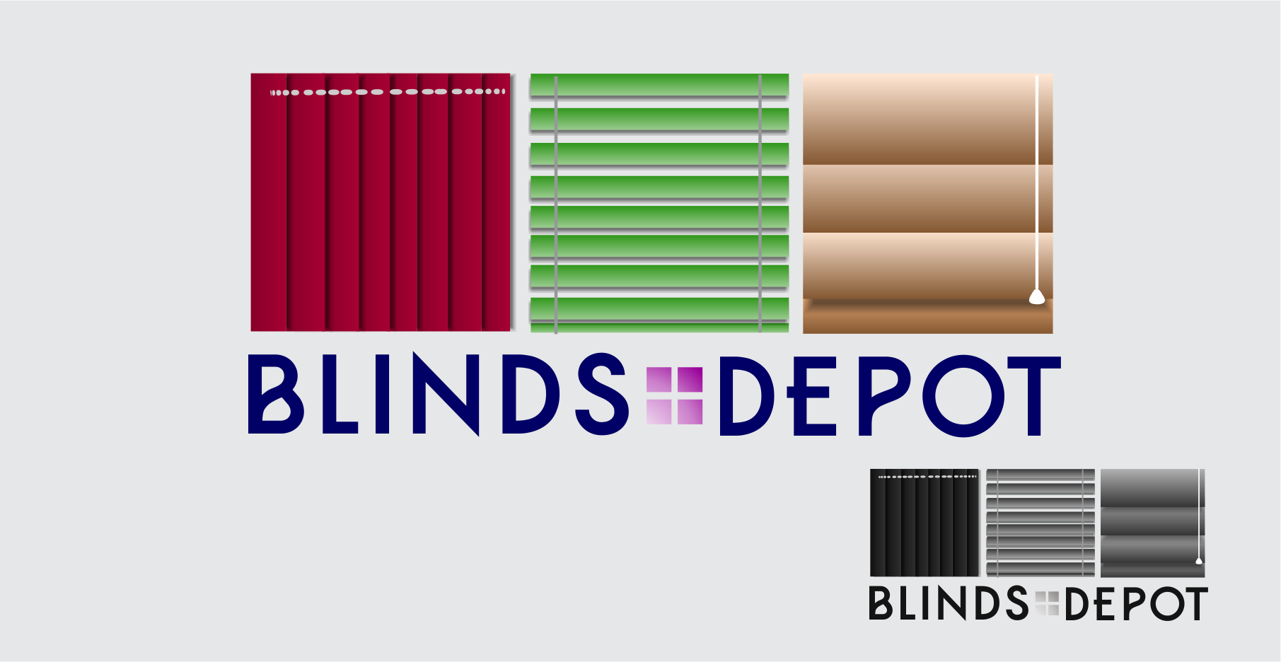 Logo Design by Private User - Entry No. 35 in the Logo Design Contest Logo Design Needed for Exciting New Company Blinds Depot.