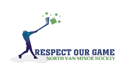 Logo Design by Private User - Entry No. 22 in the Logo Design Contest Respect our game - North Van Minor Hockey Logo Design.
