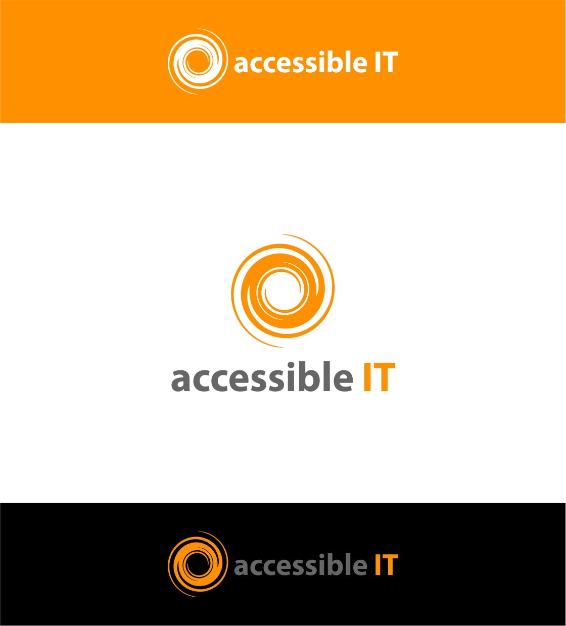 Logo Design by haidu - Entry No. 314 in the Logo Design Contest Logo Design Needed for Exciting New Company Accessible IT.