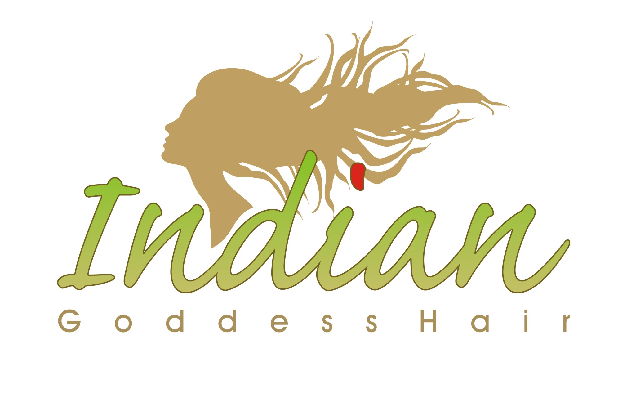 Logo Design by Private User - Entry No. 11 in the Logo Design Contest Indian Goddess Hair LOGO DESIGN.
